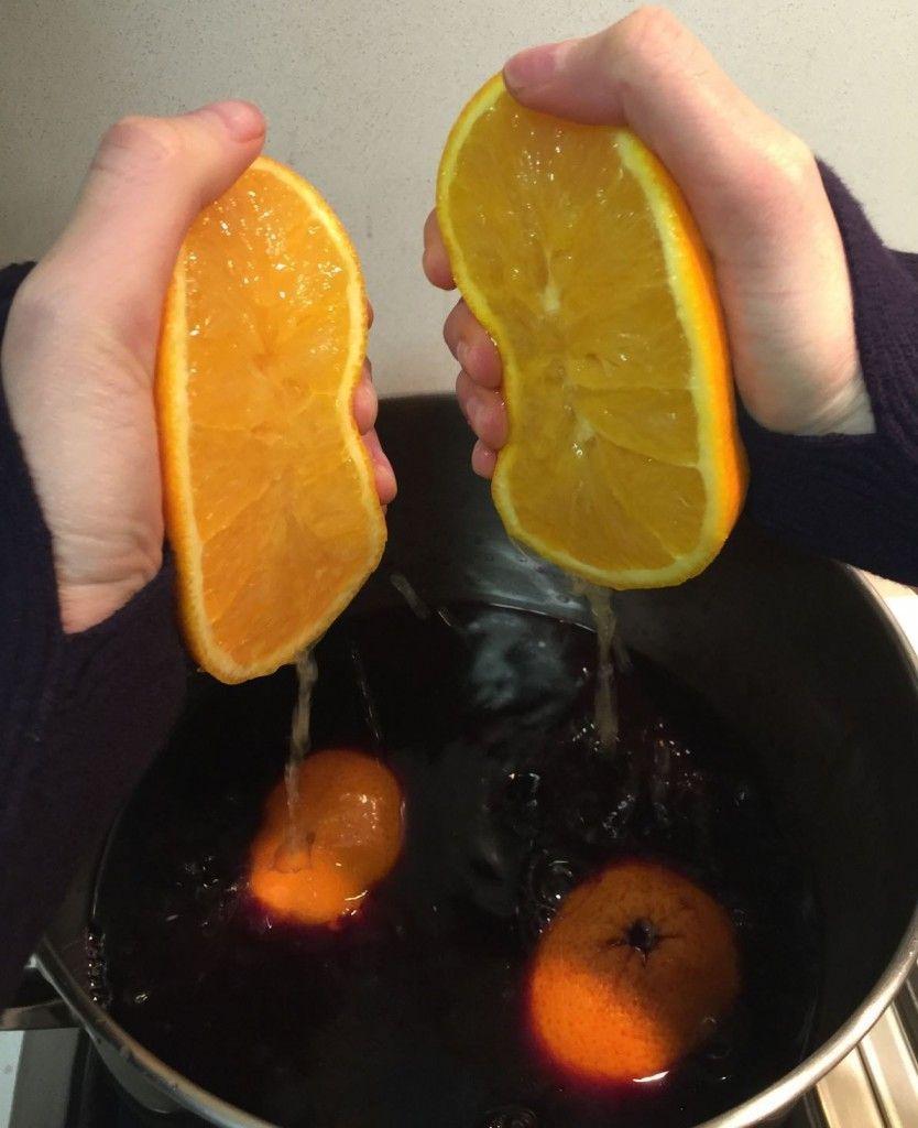 תפוזים נסחטים ליין