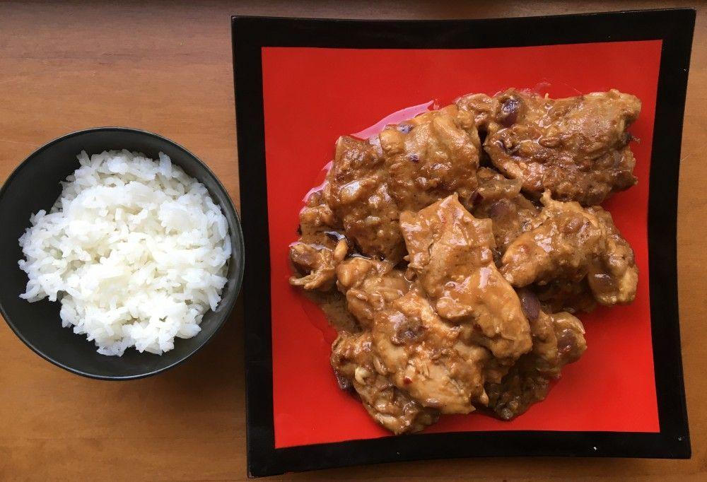 עוף במבה עם אורז